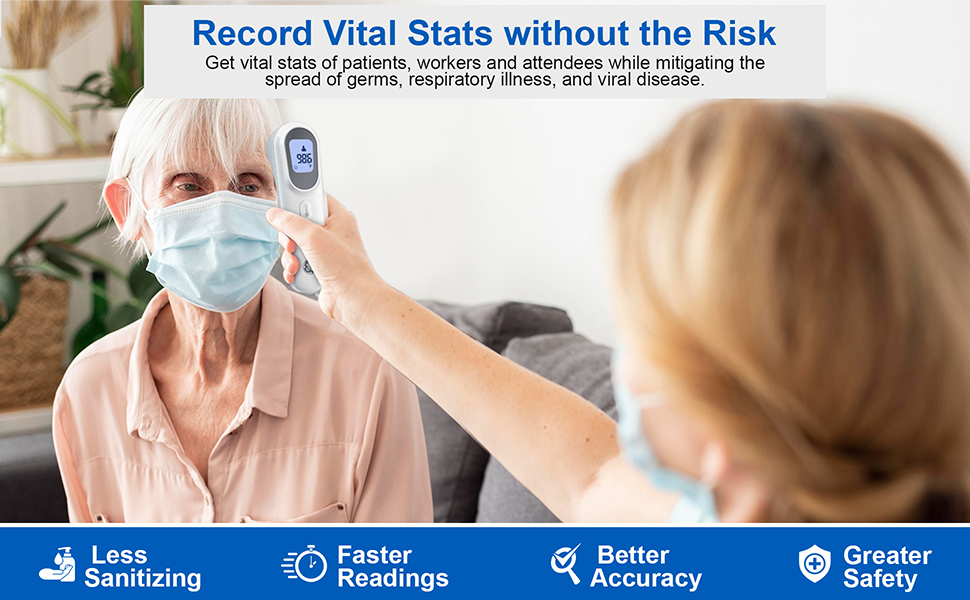 GE Contactless Thermometer Record Vital Stats without the Risk