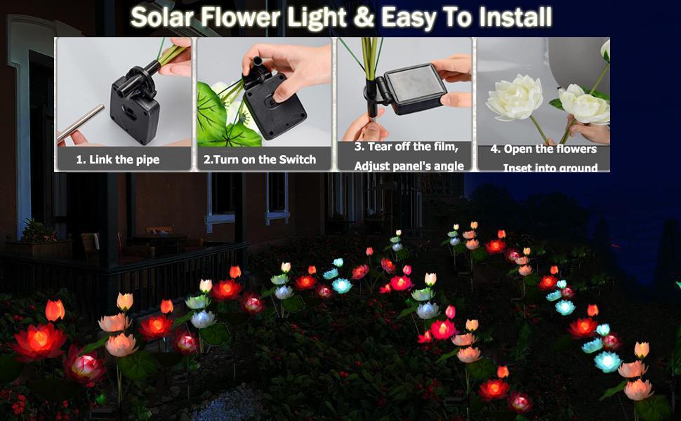 Outdoor Solar Flower lights