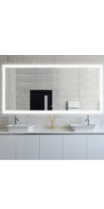 led bathroom mirror 60x28