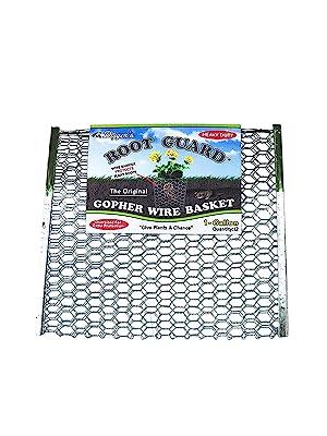 Keywords: Digger's gopher wire basket, chicken wire cloche