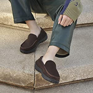 mens moccasin slippers for teens