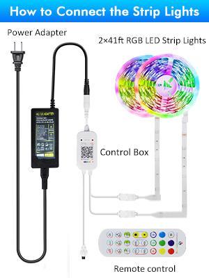 led light strips connect methods
