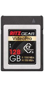 Ritz Gear Video Pro 128GB CFExpress memory Card