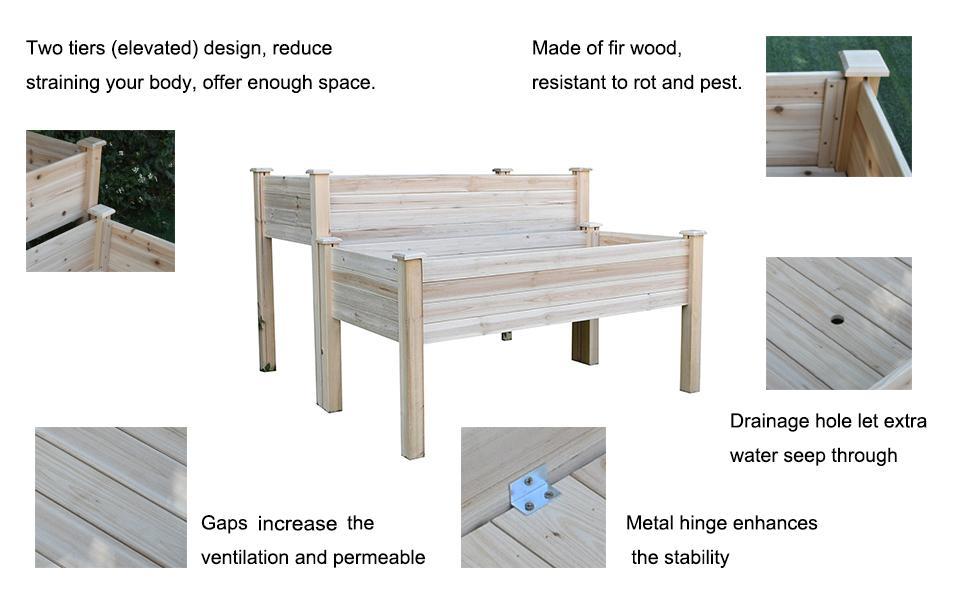 Details of garden raised bed