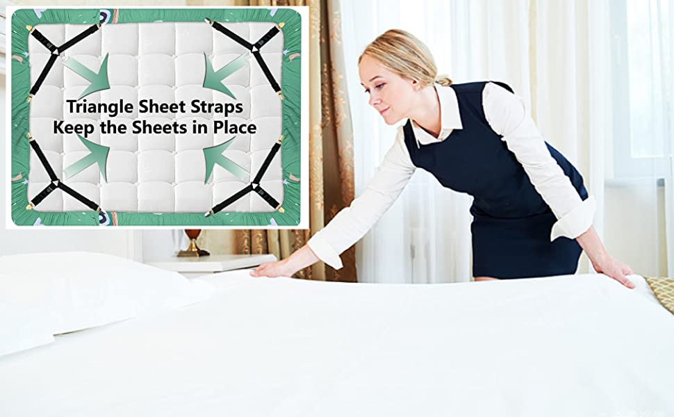 bed sheet fasteners holder clips king straps sheets queen elastic keeper keeping grippers suspenders