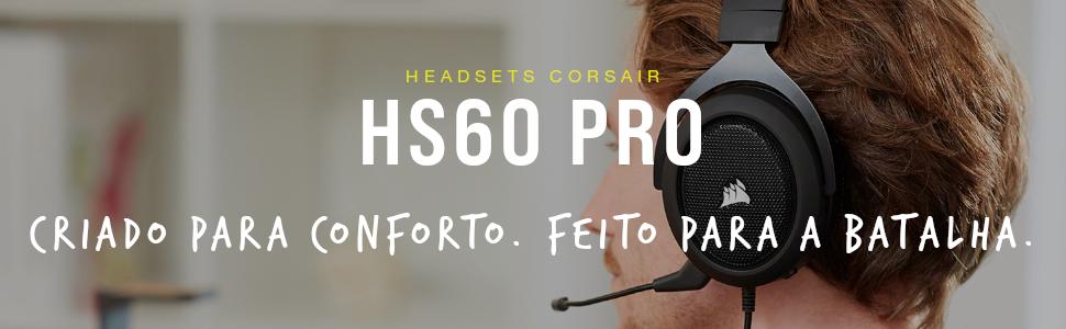 Pessoa utilizando o fone HS60 Pro Surround