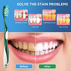 Firm Toothbrush Solve Your Stain Problems