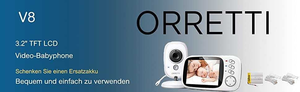 Orretti v8 video babymonitor