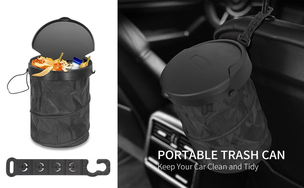 Waterproof Car Trash Can, Folder Car Trash Bin