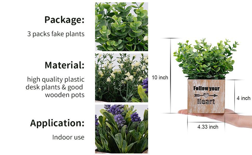 potted plants artificial decor