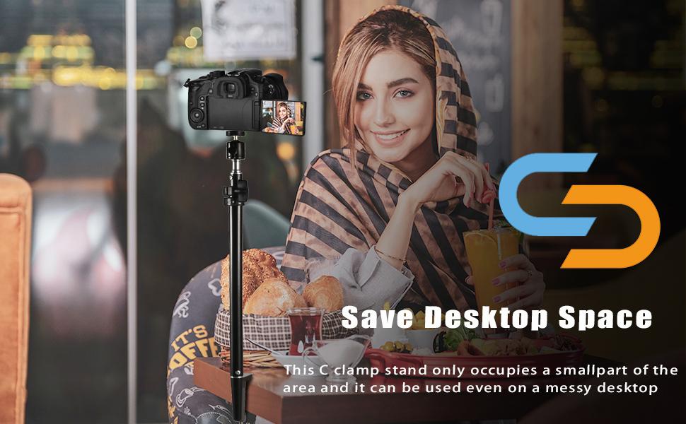 camera clampball head mount