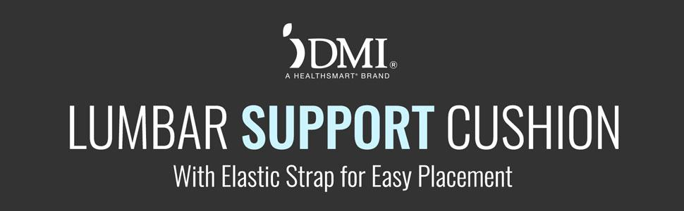 DMI Lumbar Support Cushion with Elastic Strap and Wooden Insert