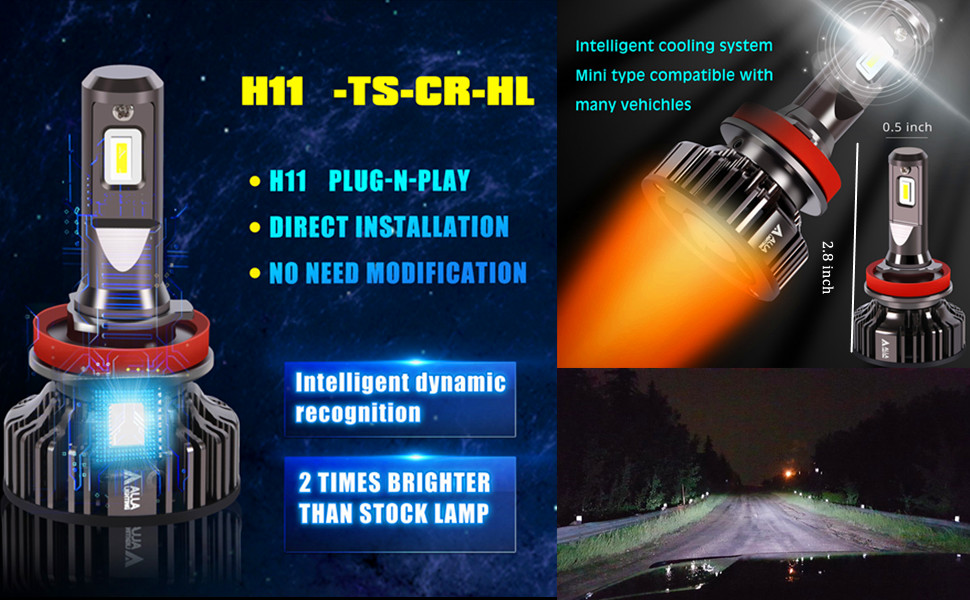 specifications-h8-h11-led-headlights-bulbs-h9-White-6000k-xenon