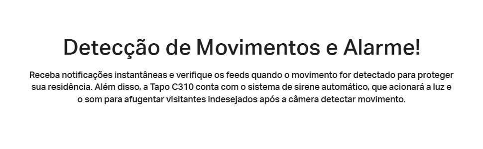 Detecção de movimentos e alarme