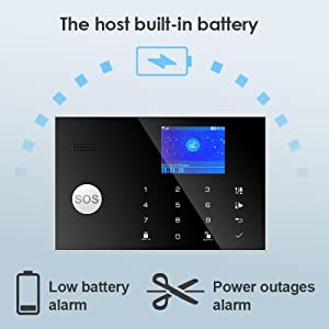 alarm security system wireless gsm 4g home