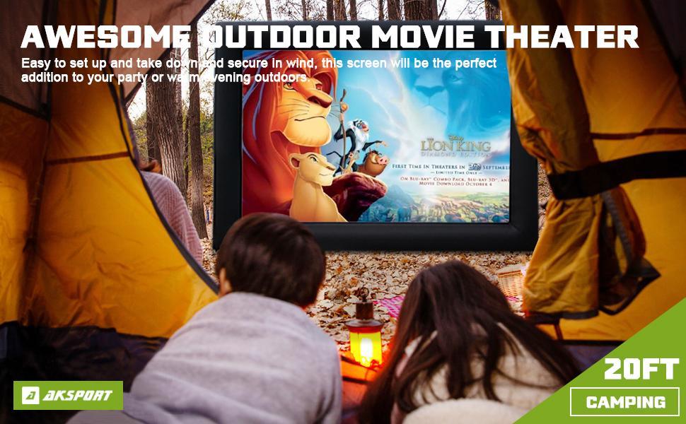 movie screen outdoor