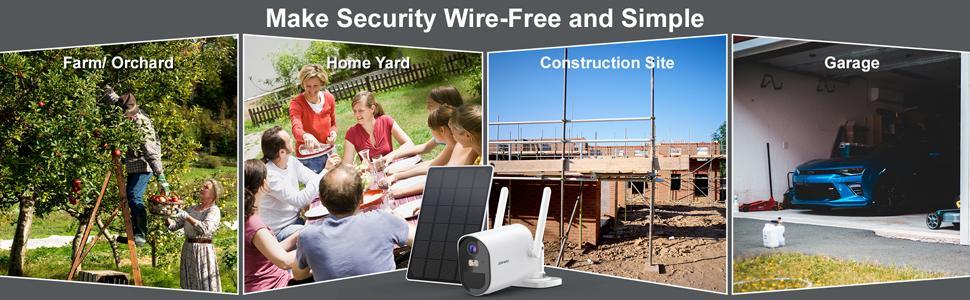 multifuncational solar camera for home yard garage construction site farm orchard
