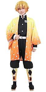 Agatsuma Zenitsu Cosplay Costume