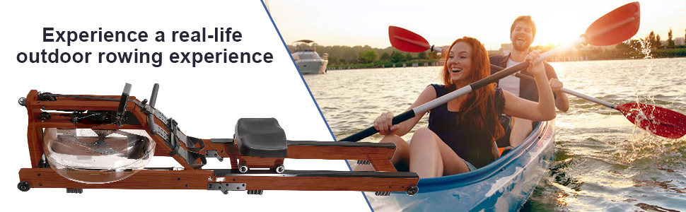 Enjoy a real-life rowing experience