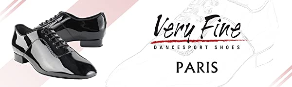 very fine, dance, shoes, ballroom, 917101, paris, patent, glossy, shiny, leather, black