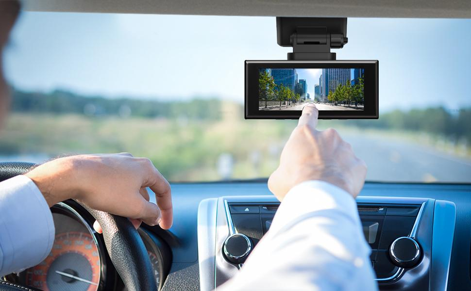 Dual car dash cam for road safety