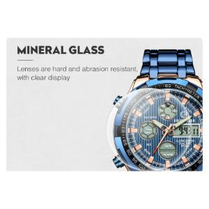 mens silver digital watch