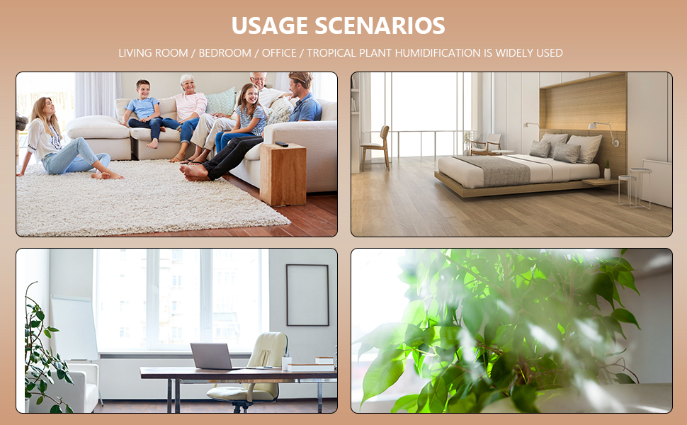 widely application used living bedroom office Tropical plant humidification