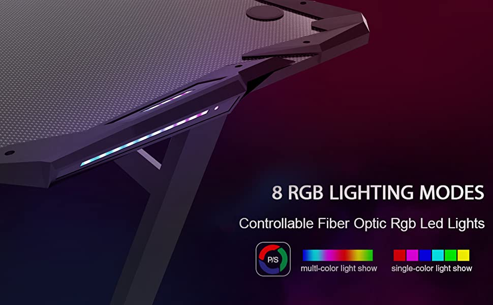 Gaming Desk RGB Lightening