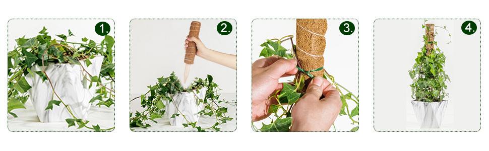 Coco Coir Poles Coir Moss Totem Pole