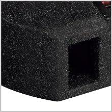 AXTON ATB20RFX: Bassreflexgehäuse mit stömungsoptimiertem Port