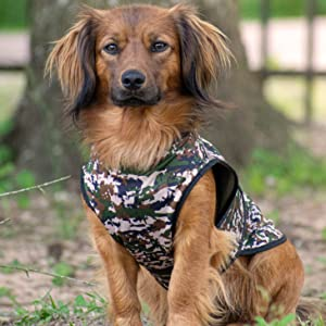 Green Camouflage Cooling Vest for Dogs