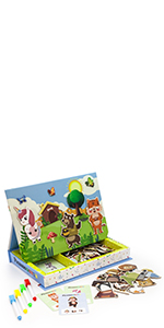 PTD03 sticker book magnetic toys