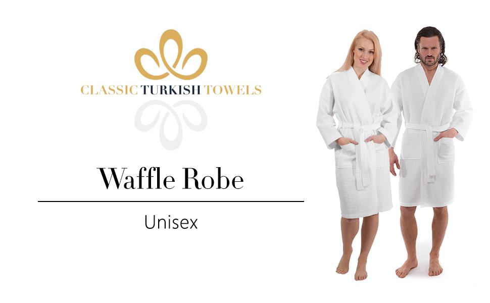 Unisex Waffle Bathrobe100% Genuine Turkish Cotton
