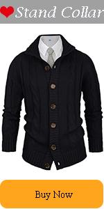Men's  Button Down Cardigan Sweater