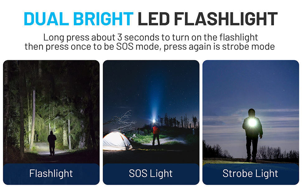 solar power bank led flashlight sos emergency outdoor camping durecopow yoesoid yelomin suscell