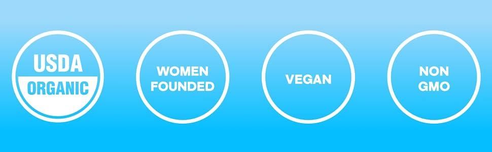 USDA Organic, Vegan, Non-GMO