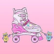 girls skates adjustable size 12-2