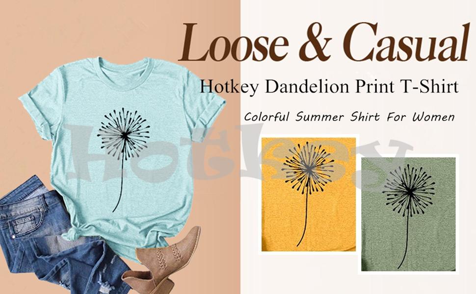 Hotkey Dandelion Print T-Shirt