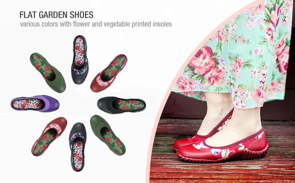 rain shoes women flat garden shoes