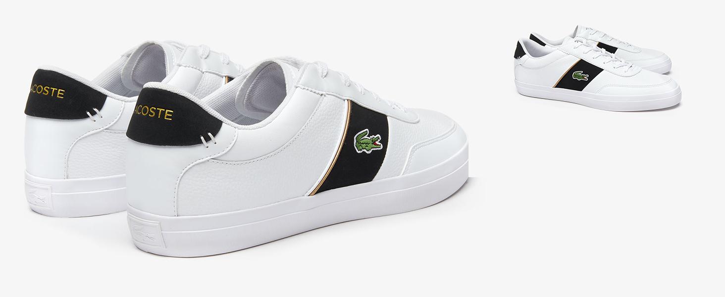 Lacoste-Sneaker Court-Master in Weiß und Blau