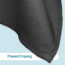 Prevent fraying, folded-over hems