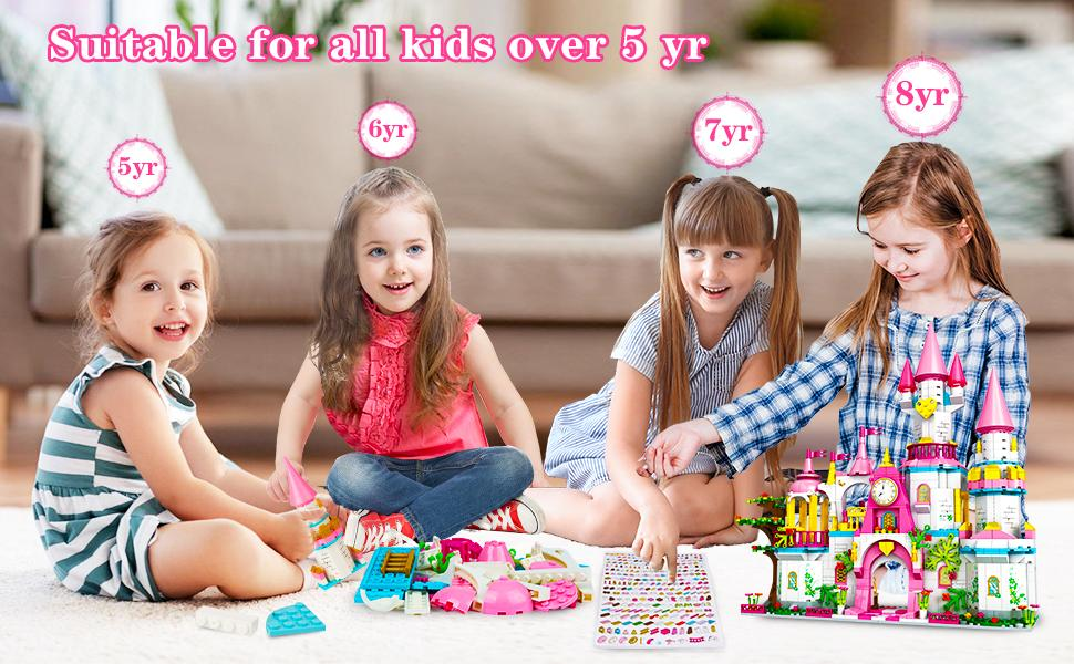 Princess Castle Building Toys for Girls age 5 6 7 8 9 10 11 12 year old
