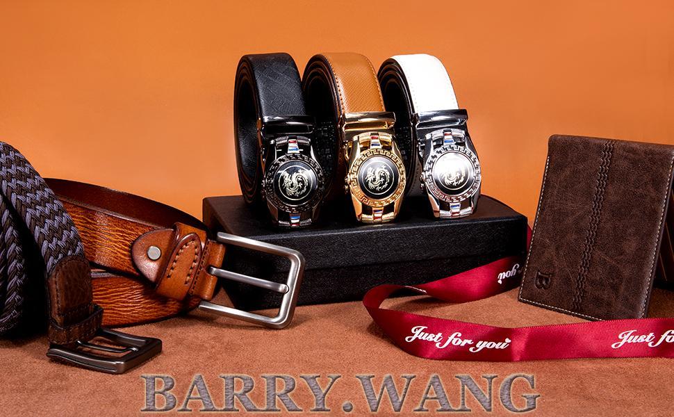 mens belt fashion gift set ratchet buckle design adjustable removable genuine leather business