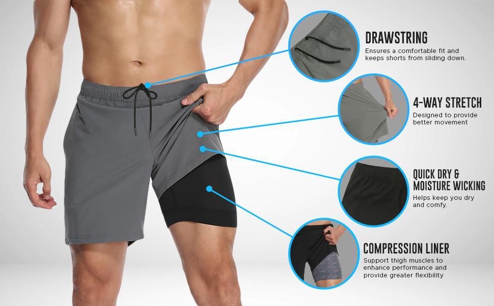 athletic shorts for men mens gym shorts mens shorts athletic black shorts training shorts for men
