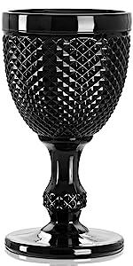 Black Wine Goblet