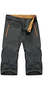 EKLENTSON Mens Outdoor Stretch Waist Thin Quick Drying Shorts Lightweight Slim Fit Cargo Shorts
