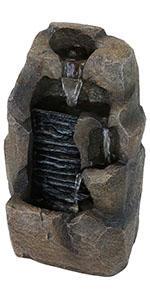 Sunnydaze Stony Rock Waterfall Indoor Tabletop Water Fountain - 11-Inch