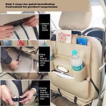 Car Back seat organizer How to Install in car back seat