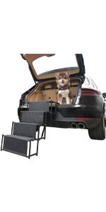 4 steps widen dog car ramp