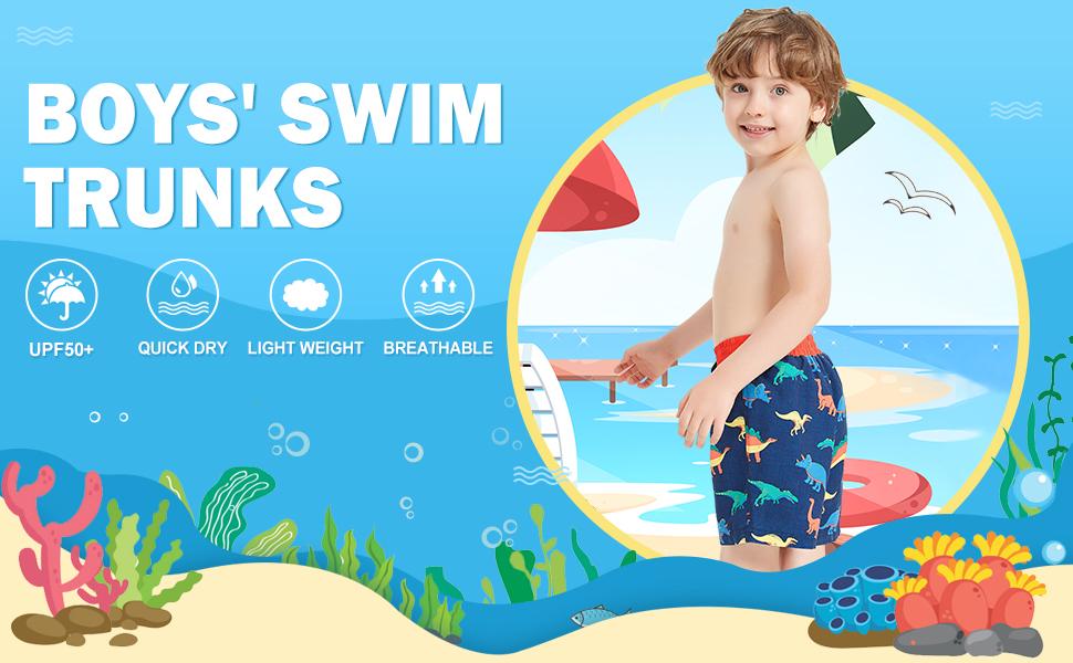 boys swim trunks animal prints